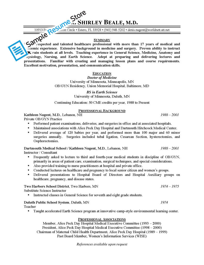 ambitious and combative physician resume