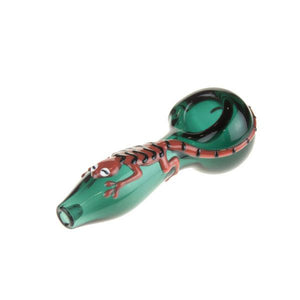 "Teal ""Lizard"" Pipe"