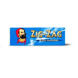 Zig Zag Cut Corner Blue Rolling Papers
