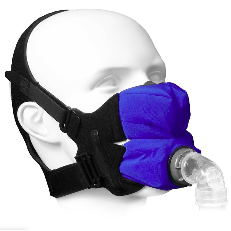 SleepWeaver Anew Soft Cloth Full Face CPAP & BiPAP Mask with Headgear