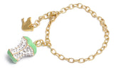 Crystal AngelHeart Bracelet Clear