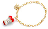 Crowned Crystal Heart Bracelet Clear