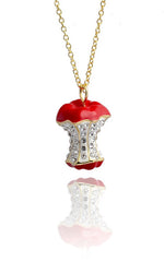 Apple Necklace Red
