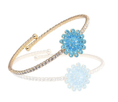 Flexi Bangle Flower-Blue