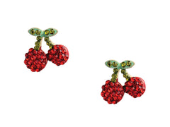 Crystal Cherry Earring