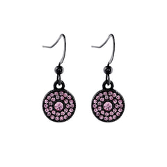 Crystal Disc Earring Pink