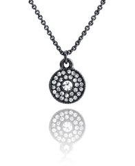 Crystal Disc Necklace Clear
