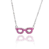 Crystal Mustache Necklace-Black