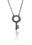 Crystal Key Necklace Clear