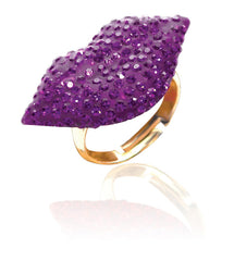 Crystal Lip Ring-Purple