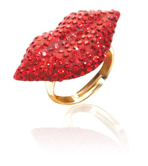 Crystal Lip Ring-RED