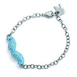 Crystal Saftey Pin Bracelet Clear