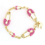 Crystal Lock&Key Bracelet Clear