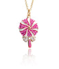 Lollipop Necklace-Pink