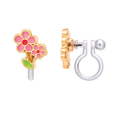 Little Pink Flower Cutie Clip-on Earrings