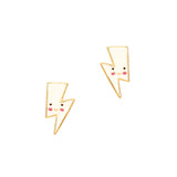 Crystal Mustache Earrings-Clear