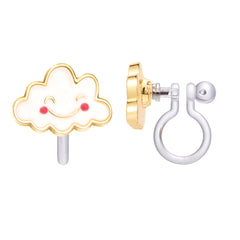 Happy Cloud Cutie Clip-on Earrings