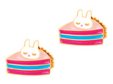 Cutie Enamel Studs Happiest Hot Dog