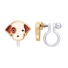Perky Puppy Cutie Clip-on Earrings