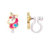 Cloud Luvs Rainbow Cutie Clip-on Earrings