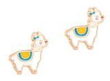 Cutie Enamel Studs Happy Skies Cloud