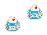 Cutie Enamel Studs Happiest Hamburger