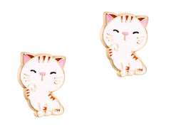 Cutie Enamel Studs Sweet Kitty