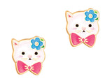Cutie Enamel Studs Strawberry Ice Cream Cone
