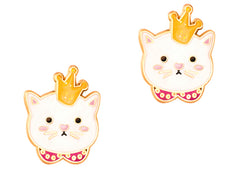 Cutie Enamel Studs Kitty Princess