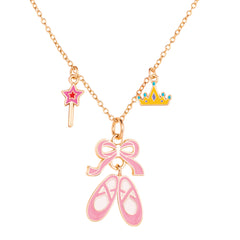 Charming Whimsy Necklace Ballet Shoes
