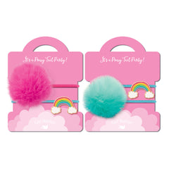 Pony Tail Whimsy Cloud Luvs Rainbow- Set of 2