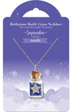 Birthstone Bottle Gem Necklace June