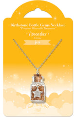 Birthstone Bottle Gem Necklace November