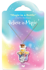 """Believe in Magic Unicorn"" Magic in a Bottle Necklace"