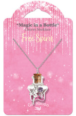 """Free Spirit Fairy"" Magic in a Bottle Necklace"