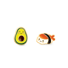 Guac and Roll Cutie Enamel Studs