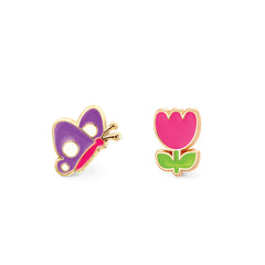 Flutter and Flower Cutie Enamel Studs