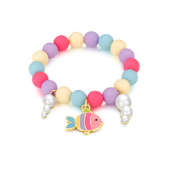 Charming Whimsy Bracelet- Rainbow Fish