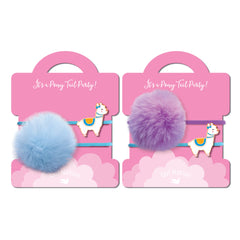 Pony Tail Whimsy Llama Glama Llama- Set of 2