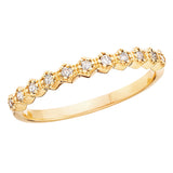 10 Karat Gold Diamond Hexagonal Shape Stackable Band - Victoria's Jewelry