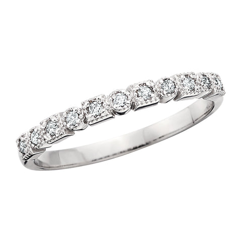 14 Karat White Gold Diamond Stackable Band - Victoria's Jewelry