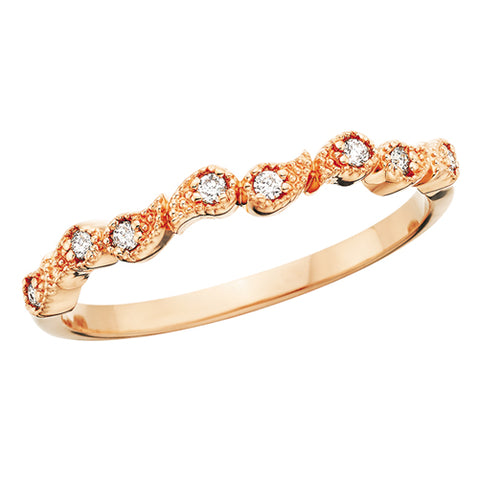 10 Karat Gold Diamond  Paisley Stackable Band - Victoria's Jewelry