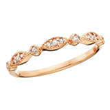 14 Karat Gold Vintage Diamond Stackable Band - Victoria's Jewelry