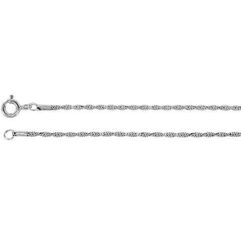 Diamond Cut Rope Chain Appx. 1.5mm - Victoria's Jewelry