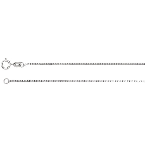 Box Chain Necklace Appx .9 mm - Oak Ridge Jewelers