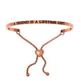 "Intuitions ""A Friend Is A Lifetime Gift"" Friendship Bracelet - Victoria's Jewelry"