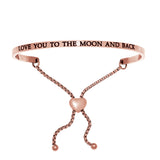 "Intuitions ""Love You to the Moon and Back"" Friendship Bracelet - Oak Ridge Jewelers"