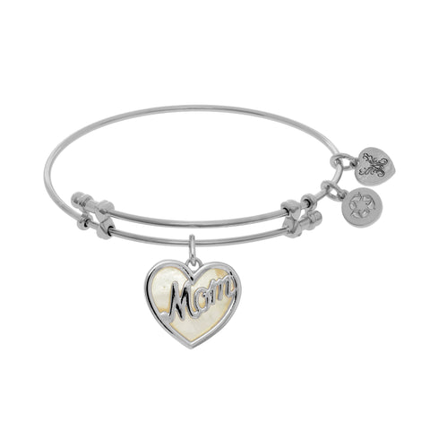 Angelica Created Mother of Pearl Mom Bangle - Victoria's Jewelry