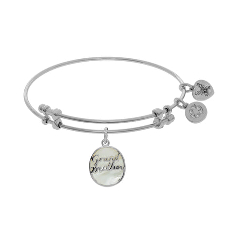 Angelica Created Mother of Pearl Grandmother Bangle - Victoria's Jewelry