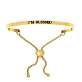 "Intuitions ""I'm Blessed"" Friendship Bracelet - Victoria's Jewelry"